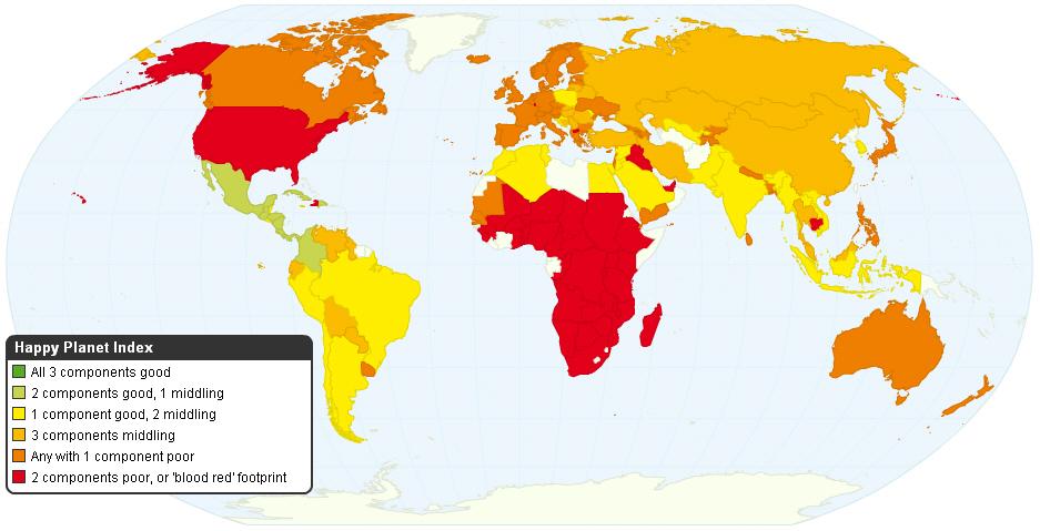 Всемирный Индекс Счастья (Happy Planet Index)