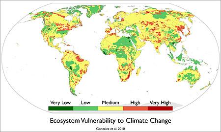 Уязвимость экосистем к климатическим изменениям