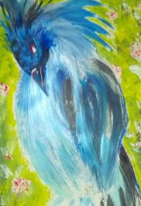 shades of blue bird