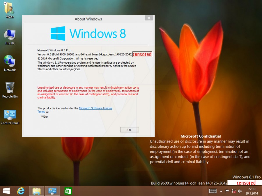 Партнеры Microsoft получили очередную сборку тестовой версии Windows 8.1 2014 Update