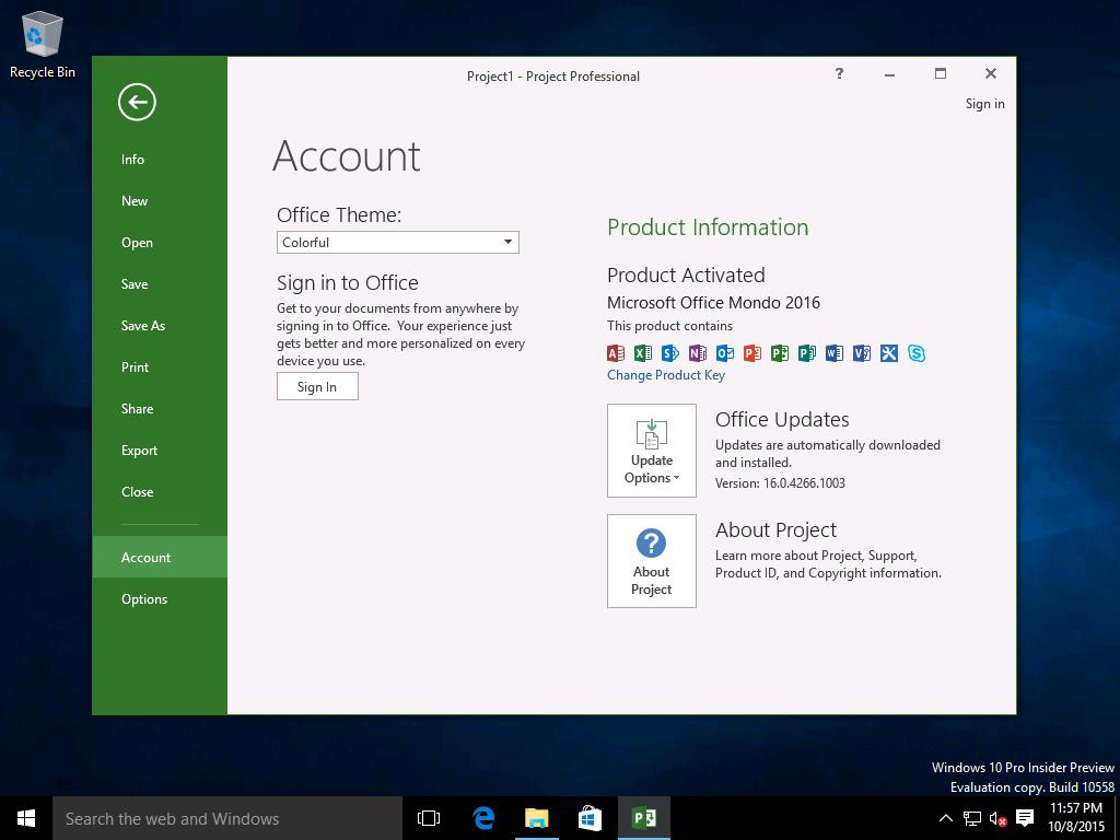 Microsoft office 2016 c2r mondo build 16 for Mondo office