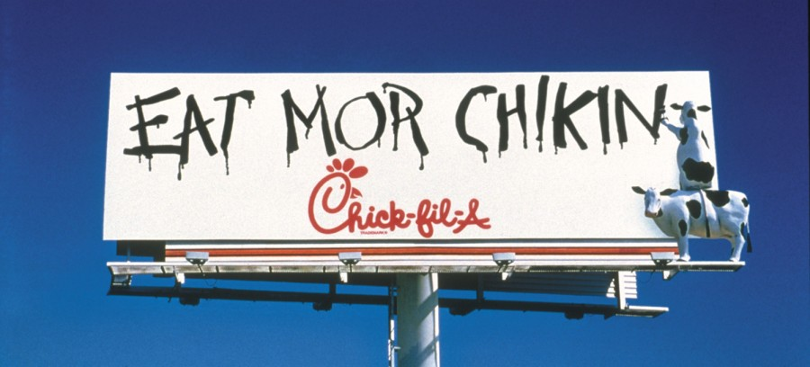 Image result for chick fil a billboard anti gay