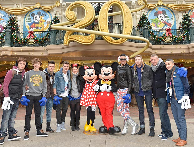 X Factor stars cause chaos at Disneyland   The Sun  Showbiz TV X Factor