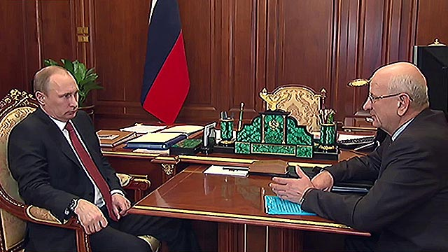 Встреча Путина и Берга в Кремле