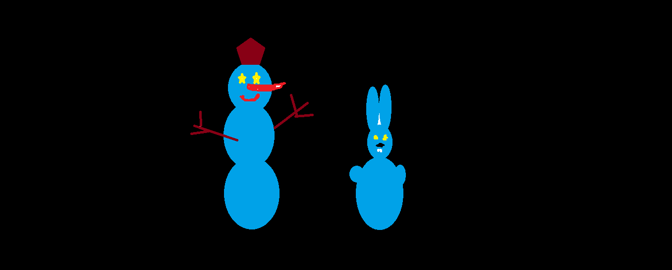 Snowmans in the dark