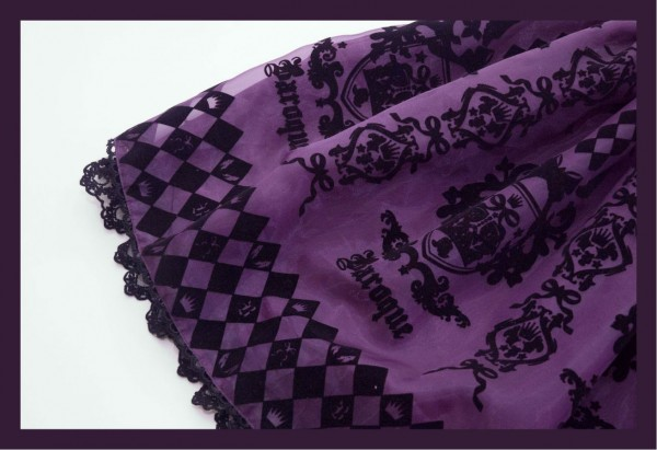 Baroque Purple Skirt Detail1