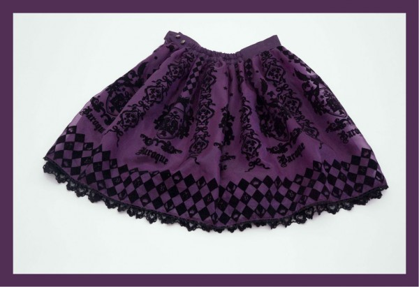 Baroque Purple Skirt Full1