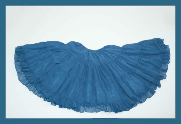 VM Teal Chiffon Skirt1