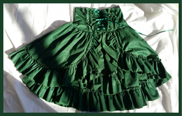 Green Bodyline Skirt1