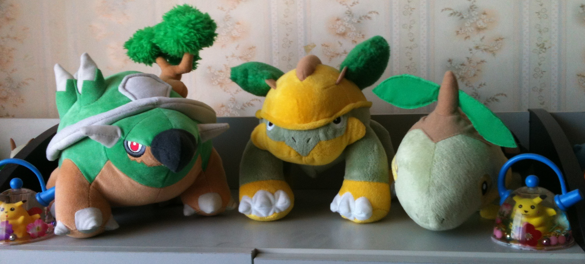 Pokemon Grass starters plush line