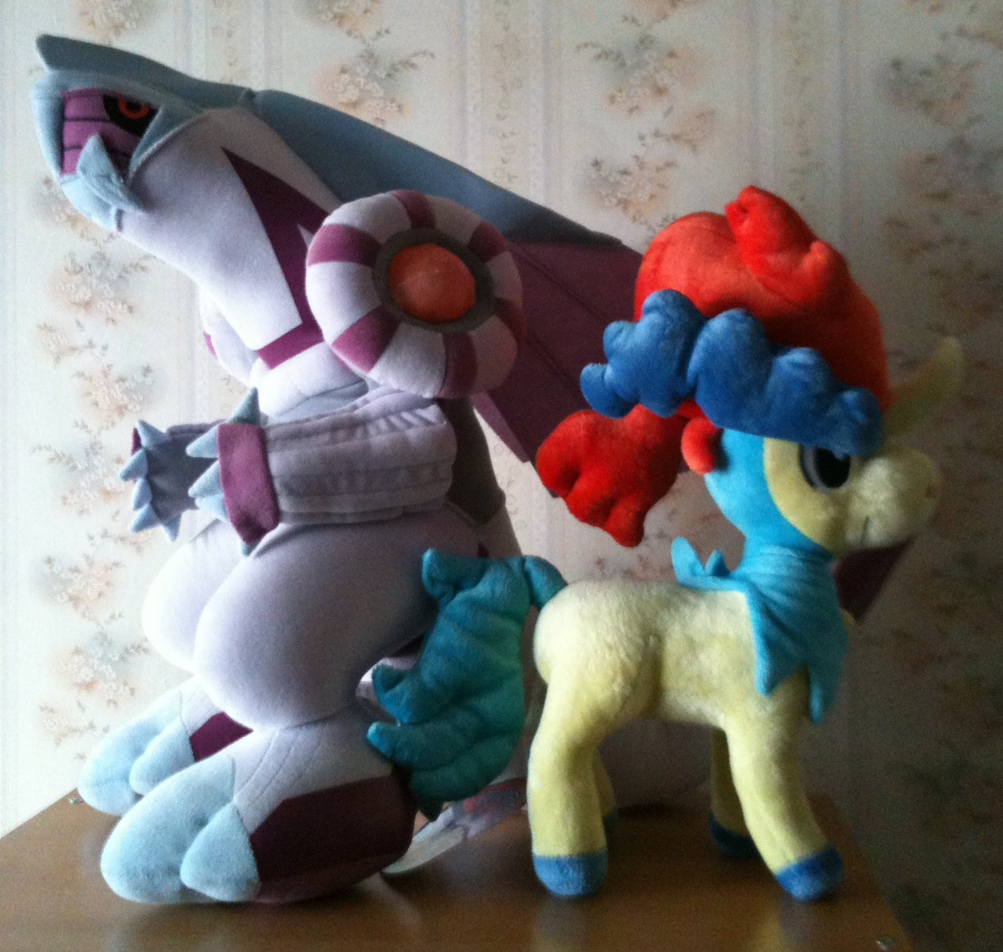 Palkia and Keldeo plushies!