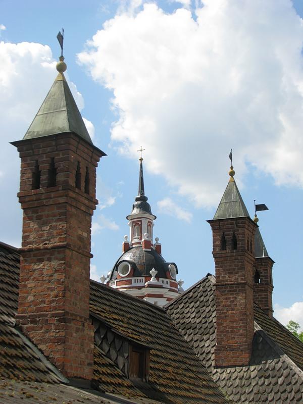 Крыша Братского корпуса Знаменского монастыря