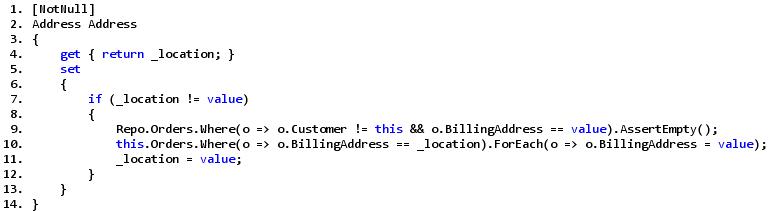 Пример кода, соответствующего идеологии DDD