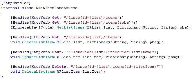 Кодярник датасорса с CRUD-методами, которые замаплены на REST-урлы