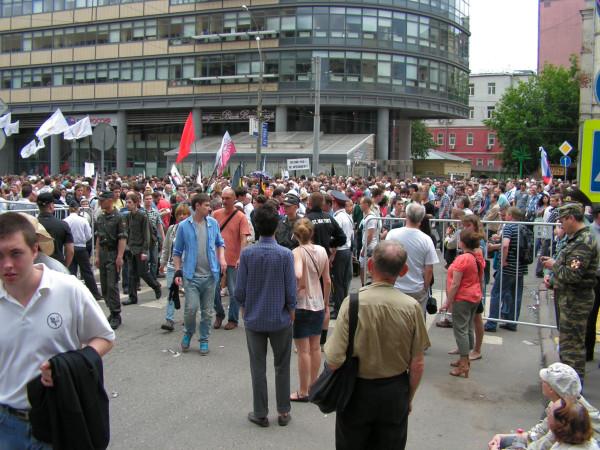 Выход с митинга