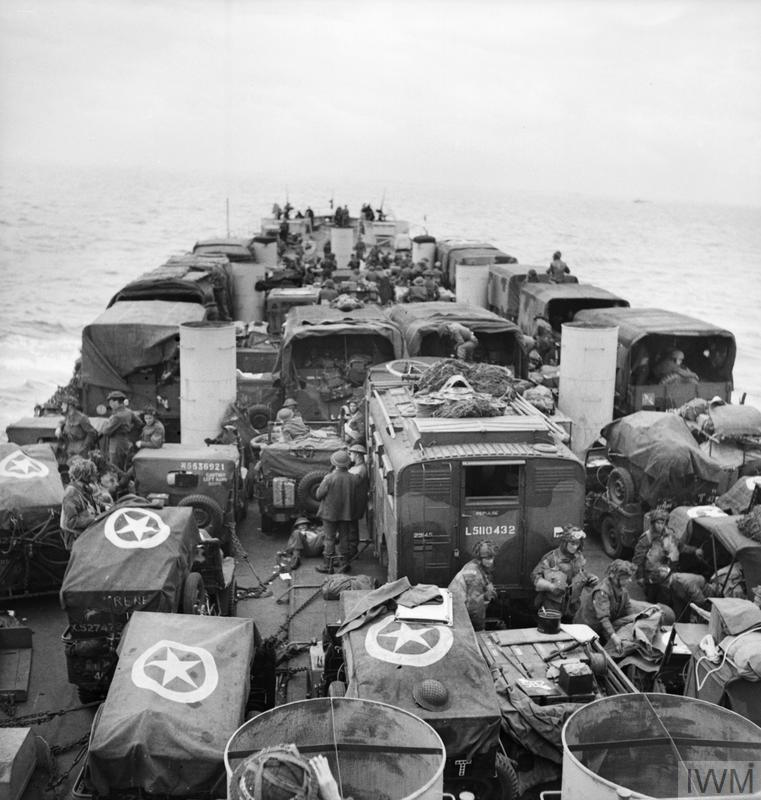 D-DAY - ALLIED FORCES DURING THE INVASION OF NORMANDY 6 JUNE 1944