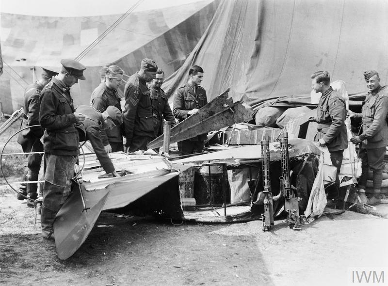 DEATH OF RITTMEISTER MANFRED VON RICHTHOFEN, APRIL 1918