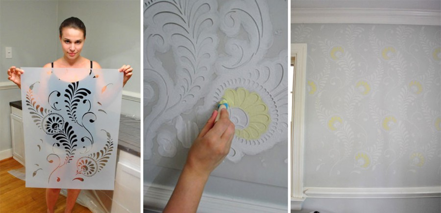 Как сделать шаблон для декора стен