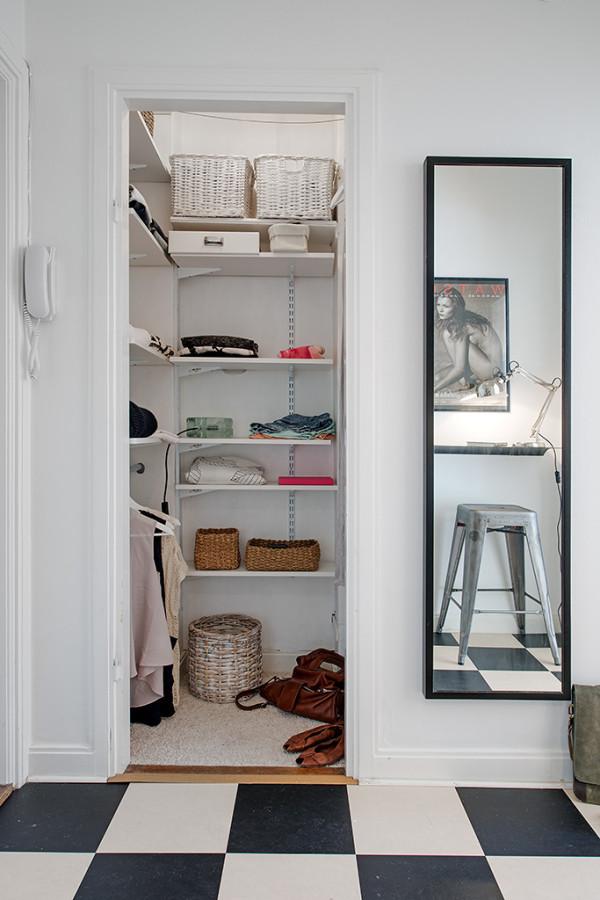 Дизайн гардеробной из кладовки