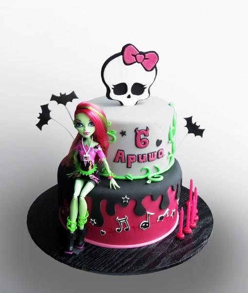 Торт с куклой монстер хай