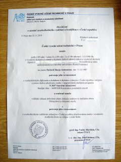 Нострификация диплома Заметки иностранного студента в Праге В документе №1 сказано что моё заявление рассмотрели ссылка на закон и потом передали в Строительный факультет fakulta stavebni где мой диплом