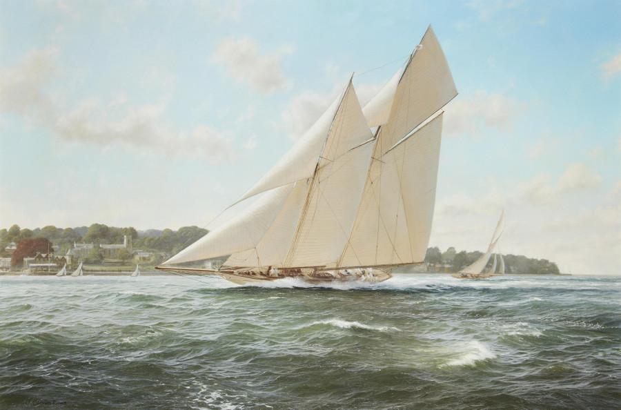 'Maiden Season' демонстрирует свой ход у Кауса летом 1910 г (61 х 91.5 см) (ч.с.)