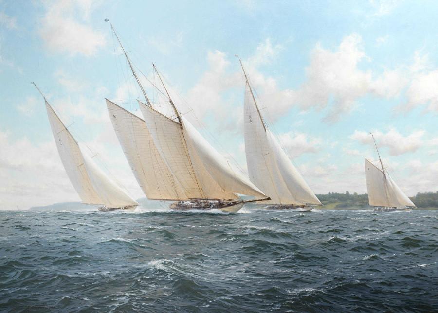 Соперничество яхт Камбрия, Кандида и Белый вереск (76.2 x 106.7 см) (ч.с.)