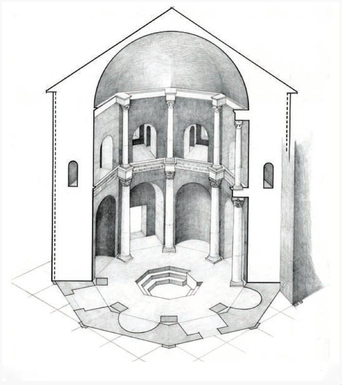 Баптистерий Сан-Джованни-алле-Фонти: реконструкция.