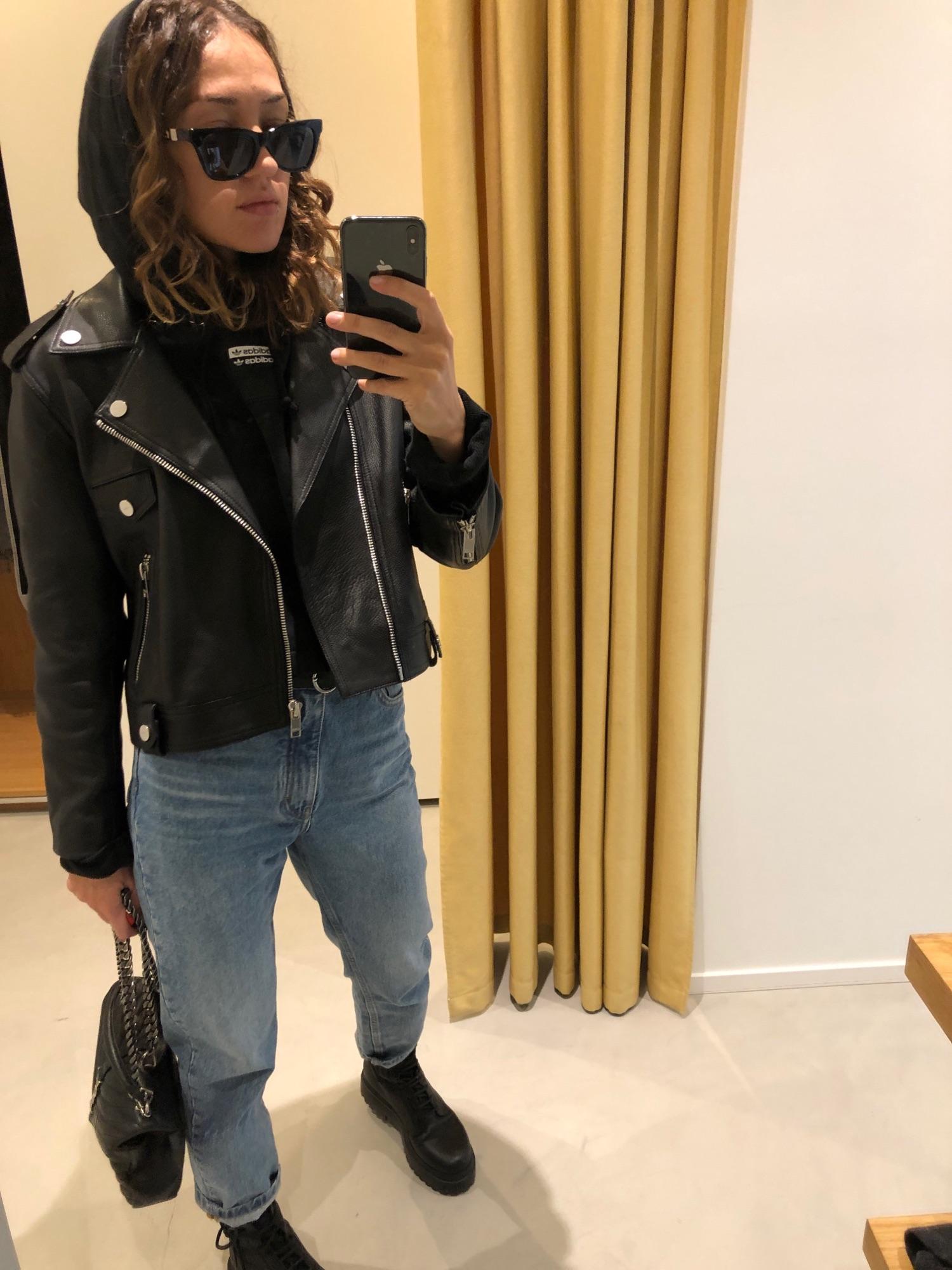 Куртка ganni, джинсы Maje