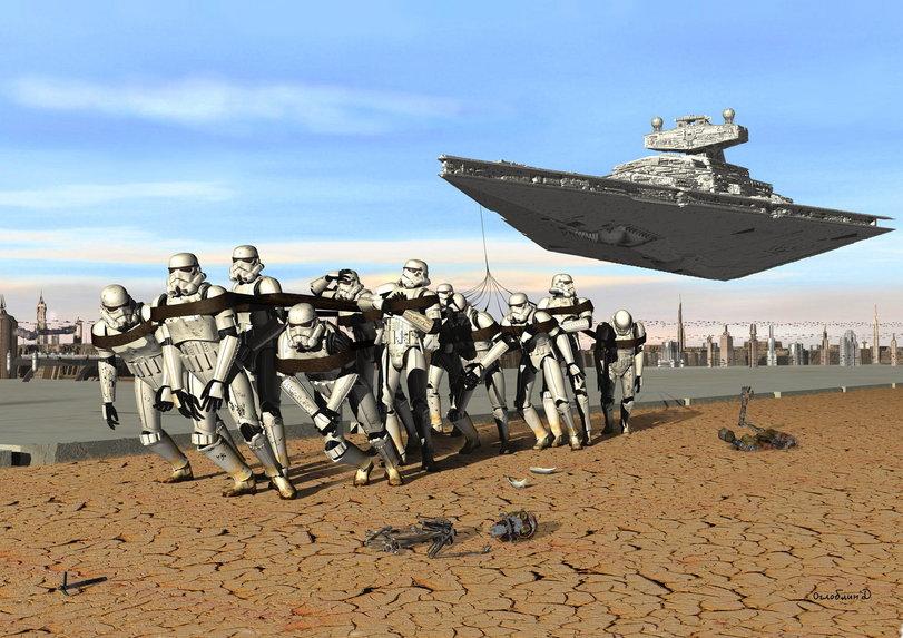 Звездные-Войны-бурлаки-на-волге-звёздный-крейсер-107857