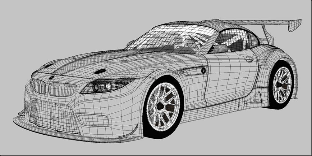 BMW_Z4_GT3_wireframe_www2
