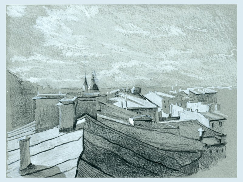 Крыши Питера.