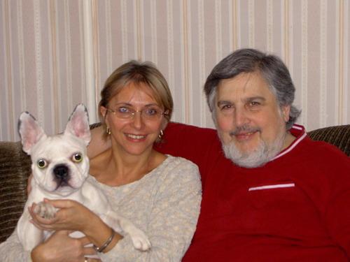 Семья. Я, Ян, собака Катя, есть еще кошка Лиза.