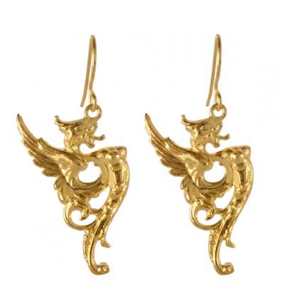 bijoux-boucles-d-oreilles-dragon-dorees