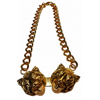collier-2-tetes-de-tigres-dore
