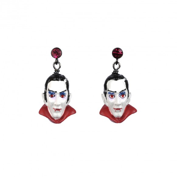 dracula-and-pink-stone-earrings
