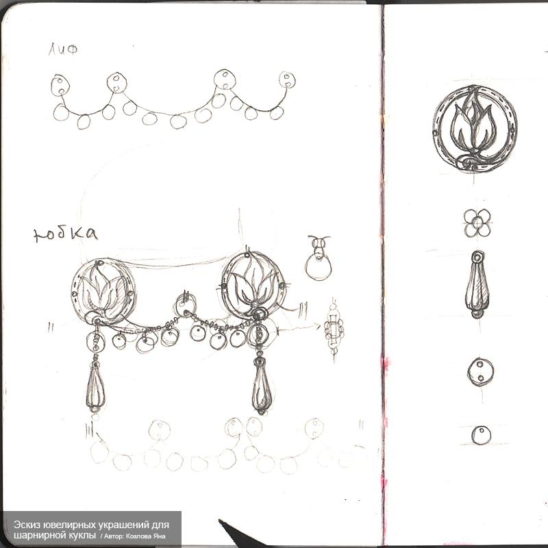 Эскиз-ювелирных-украшений-для-шарнирной-куклы