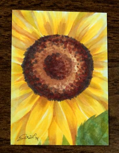 card for monica sunflower