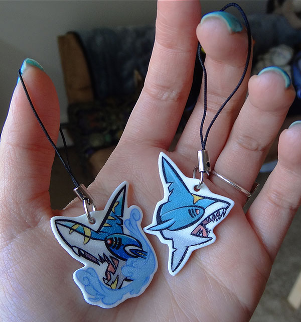 completed sharpedo charms