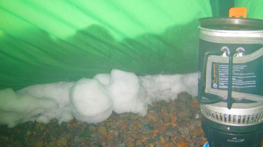 в снегу изнутри