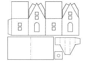 Макеты домов из бумаги 56