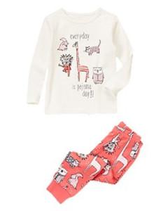 Sleepy Animals Two-Piece Pajama Set