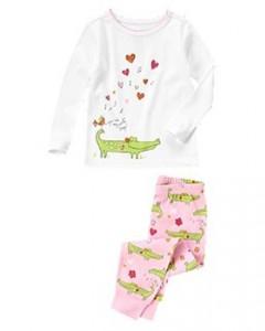 Sweet Alligator Two-Piece Pajama Set