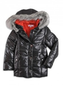 longer padded faux fur trim jacket