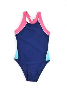 spliced racer back swimsuit