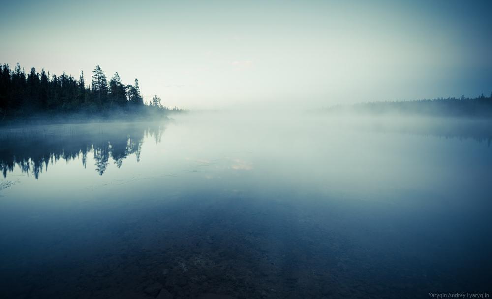 YAR_5191 Mysterious lake before dawn