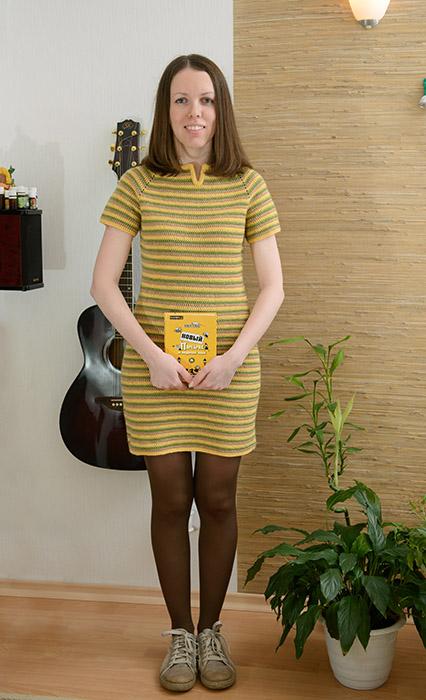 Женское платье реглан крючком