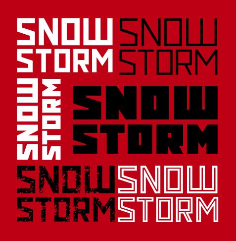 Snowstorm free font
