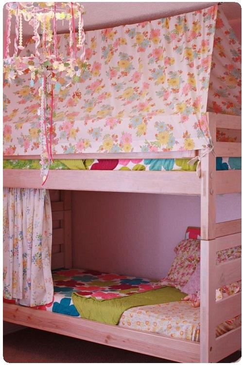 Балдахин на кровать-чердак