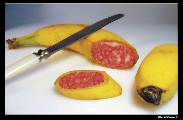 банан колбасный. колбаса банановая.